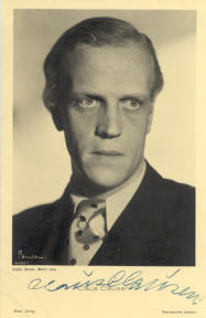<b>Claus Clausen</b> auf einem Foto von Alexander Binder (1888 – 1929); Quelle: - clausen_binder_cyranos